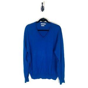 Peter Millar   V-Neck Cashmere Sweater Blue Men's Size Large Excellent Condition